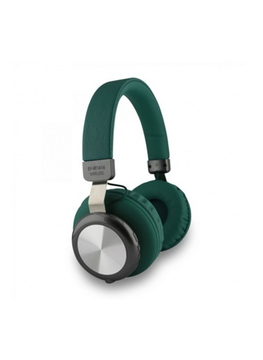 Bludfire Nettech Sy-Bt1616 Oyuncu Stereo Bluetooth Kulaküstü Kulaklık (Yeşil) Yeşil